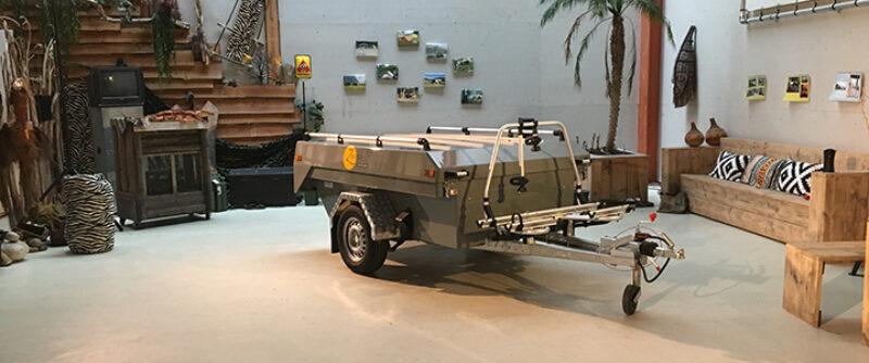 Fietsendrager op Zambezi Original vouwwagen