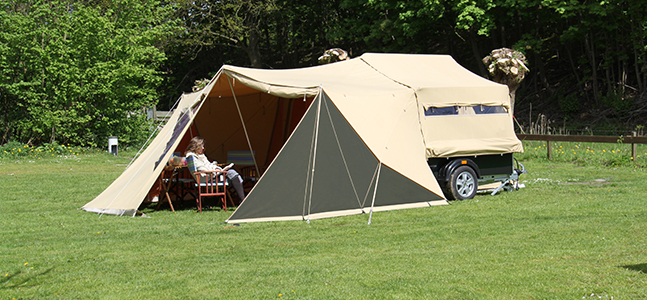 Livingstone River Lodge groene tent