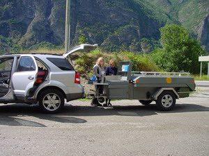 Aart Kok vouwwagen kopen Zambezi tenttrailer op parkeerplaats