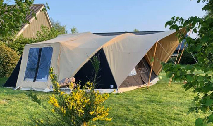 Aart Kok River Lodge vouwwagen met boogluifel én varioluifel kopen
