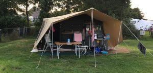 Aart Kok Zambezi tenttrailer bij camping de Horizon in Schoorl