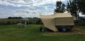Aart Kok Zambezi tenttrailer op camping de Horizon in Schoorl