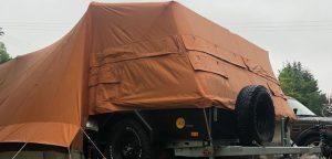 Aart Kok Kariba Off-Road Tent & Trailer vouwwagen in Italië op de camping