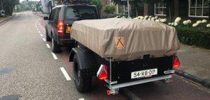 Aart Kok Kariba Off-Road Tent & Trailer vouwwagen onderweg naar Italië