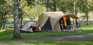 Aart Kok Kavango vouwwagen met boogluifel op de camping