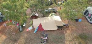Aart Kok Kariba vouwwagen op camping in Kroatie