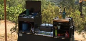Aart Kok Kavango Game Drive vouwwagen keuken in Frankrijk
