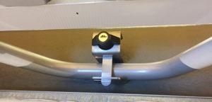 Zambezi softtop lock slot op het bed in de vouwwagen