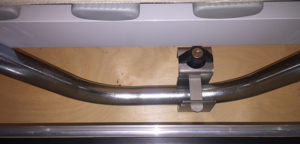 Livingstone softtop lock slot op het bed in de vouwwagen