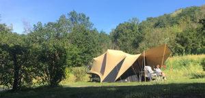 Aart Kok Adventure Tuareg vouwwagen op de camping