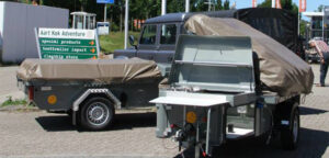 Zambezi tenttrailer bij Aart Kok Adventure service centre in Heemstede