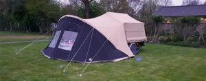 Aart Kok Livingstone River Lodge Game Drive vouwwagen op de camping